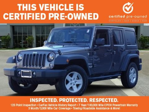 Certified Pre-Owned 2017 Jeep Wrangler Unlimited Unlimited Sport